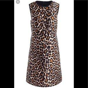 J. Crew leopard mod sheath shift dress 00